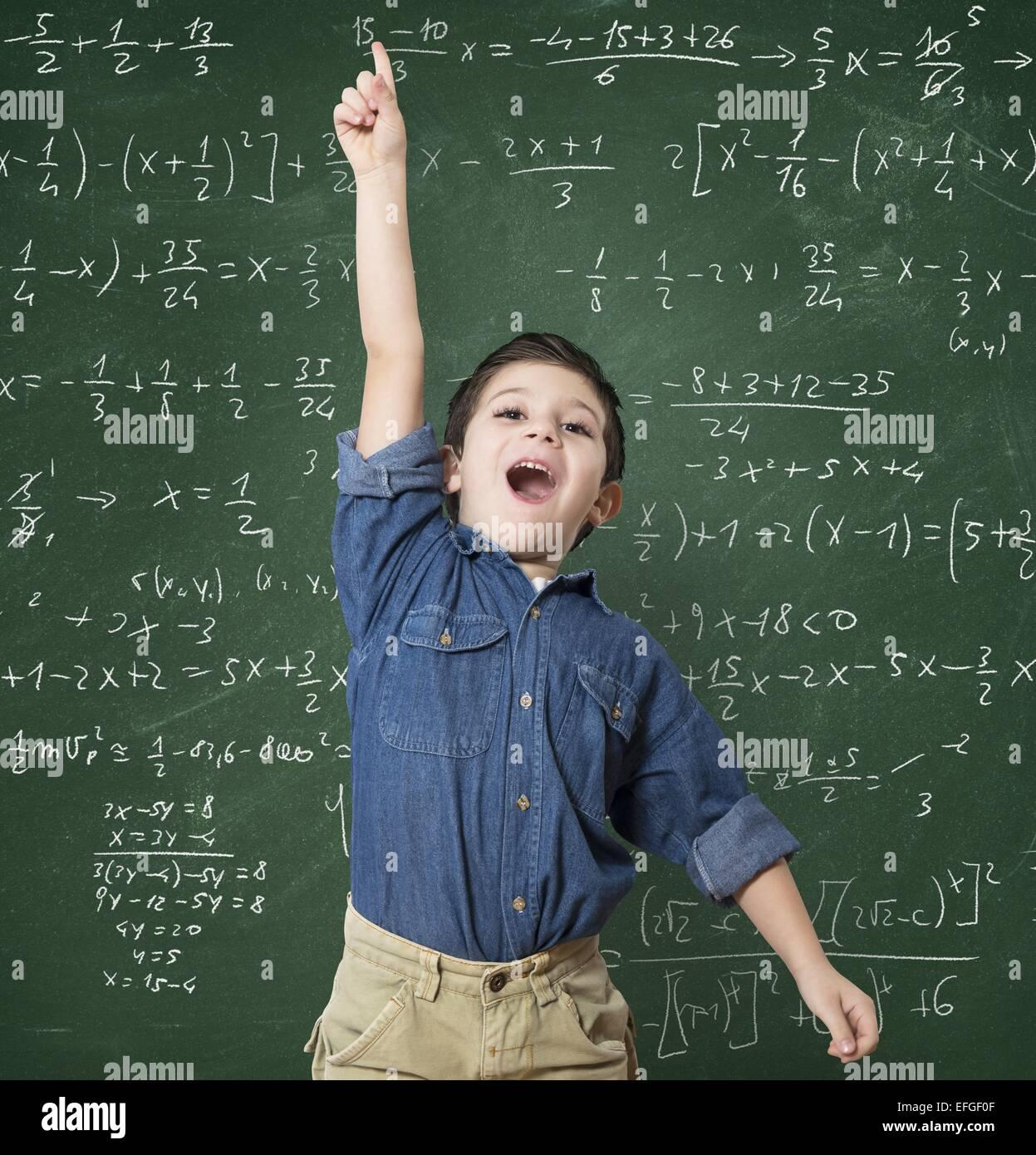 Genius child - Stock Image