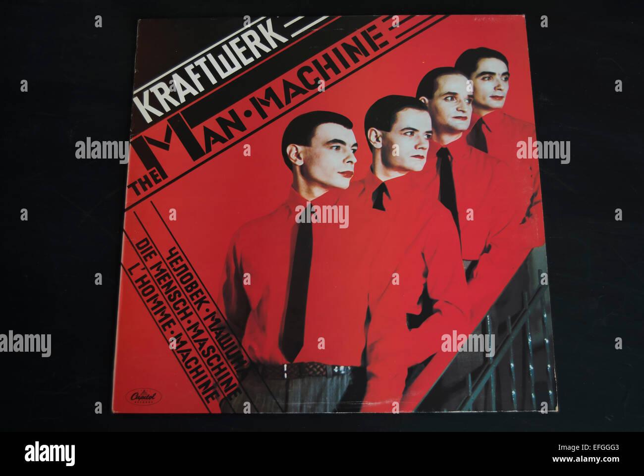 front cover of the 1978 kraftwerk album, the man machine Stock Photo