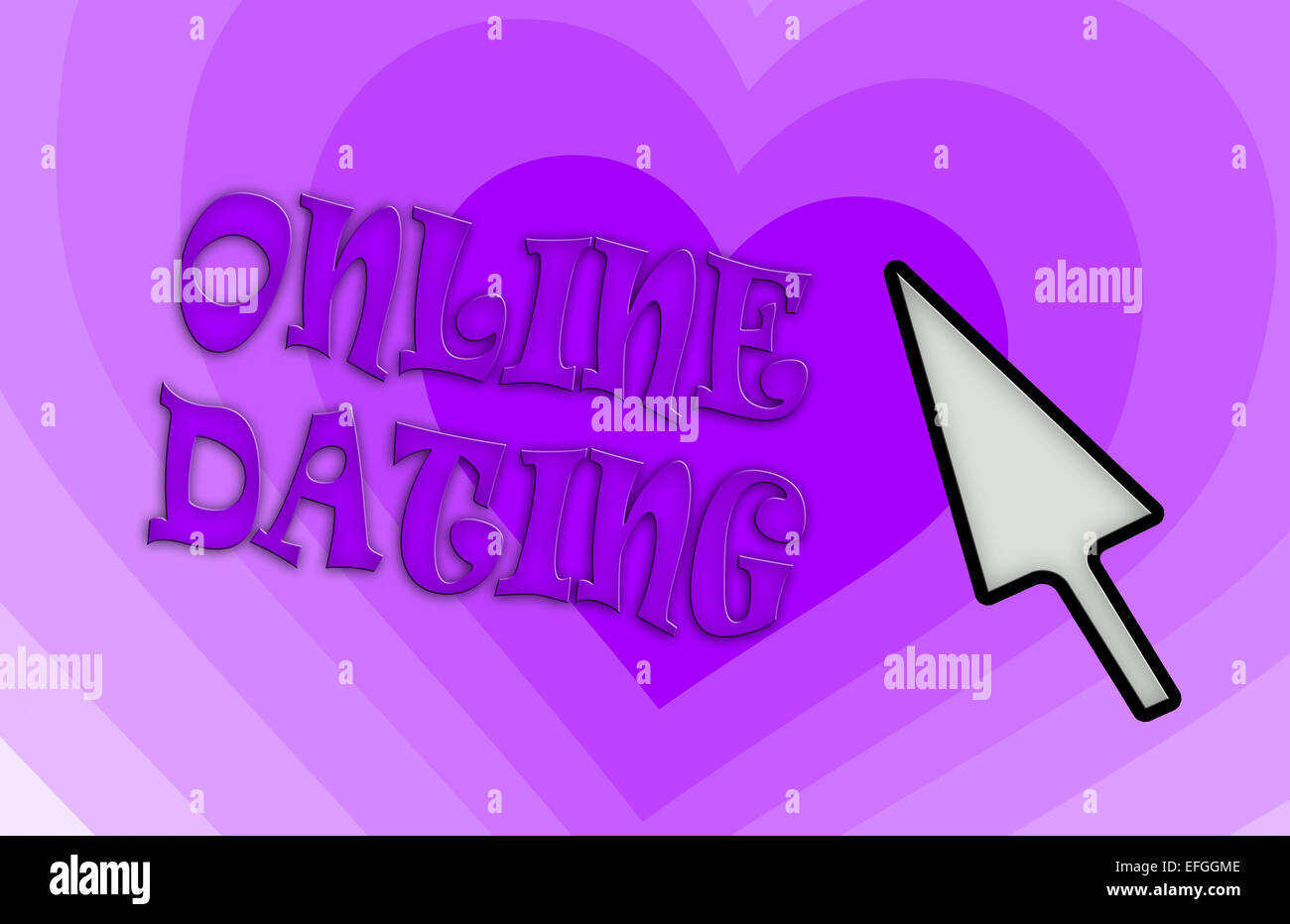 Heart shape backgound - Concept of dating - purple - Stock Image