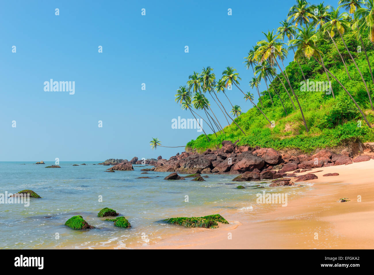 beautiful landscape in an exotic location shot day - Stock Image