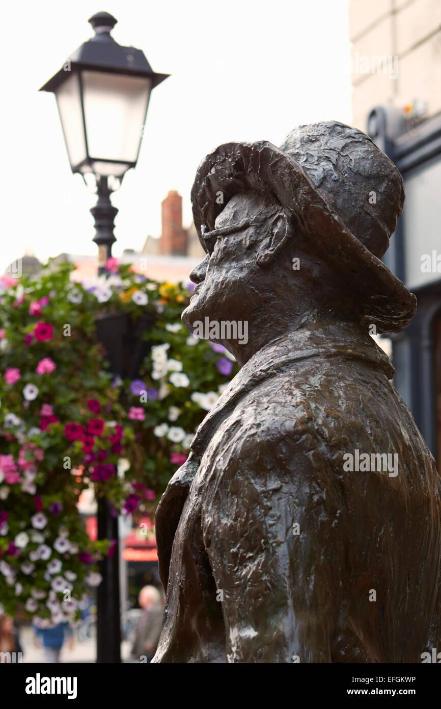 James Joyce Statue, Dublin, Ireland - Stock Image