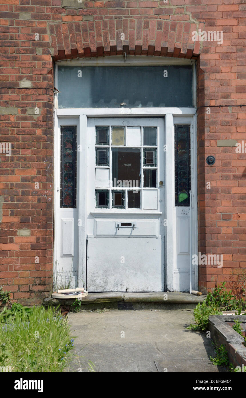Dilapidated white house door North Finchley London UK. & Dilapidated white house door North Finchley London UK Stock Photo ...