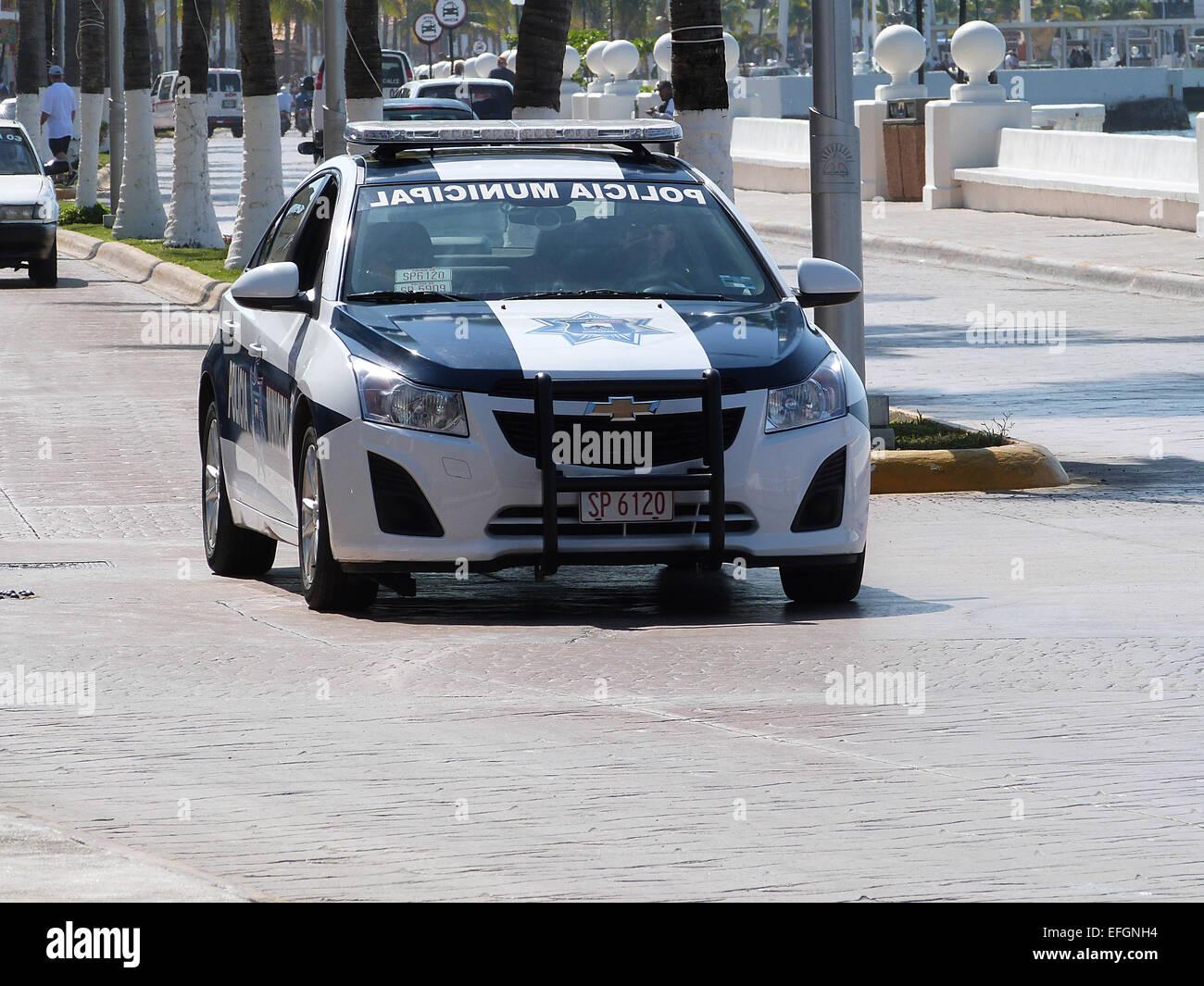 Chevrolet Police Car In Cozumel Mexico 2015 Stock Photo 78429488
