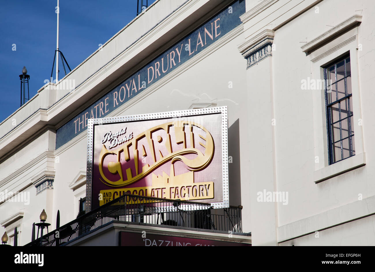 Charlie and the Chocolate Factory on Theatre Royal Drury Lane in Covent Garden in London UK - Stock Image