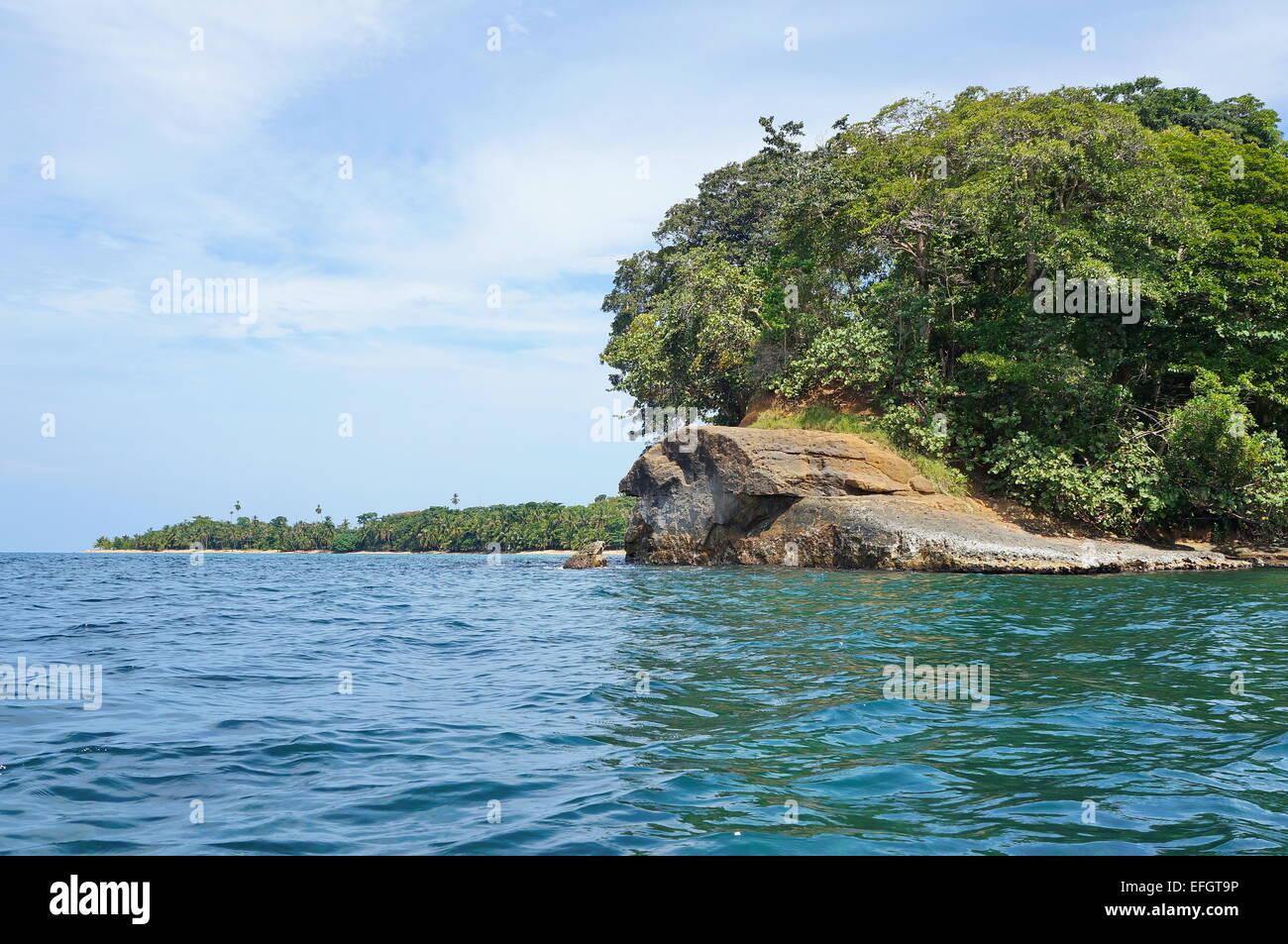 Punta Uva in Costa Rica on the Caribbean coast near Puerto Viejo de Talamanca, Central America - Stock Image