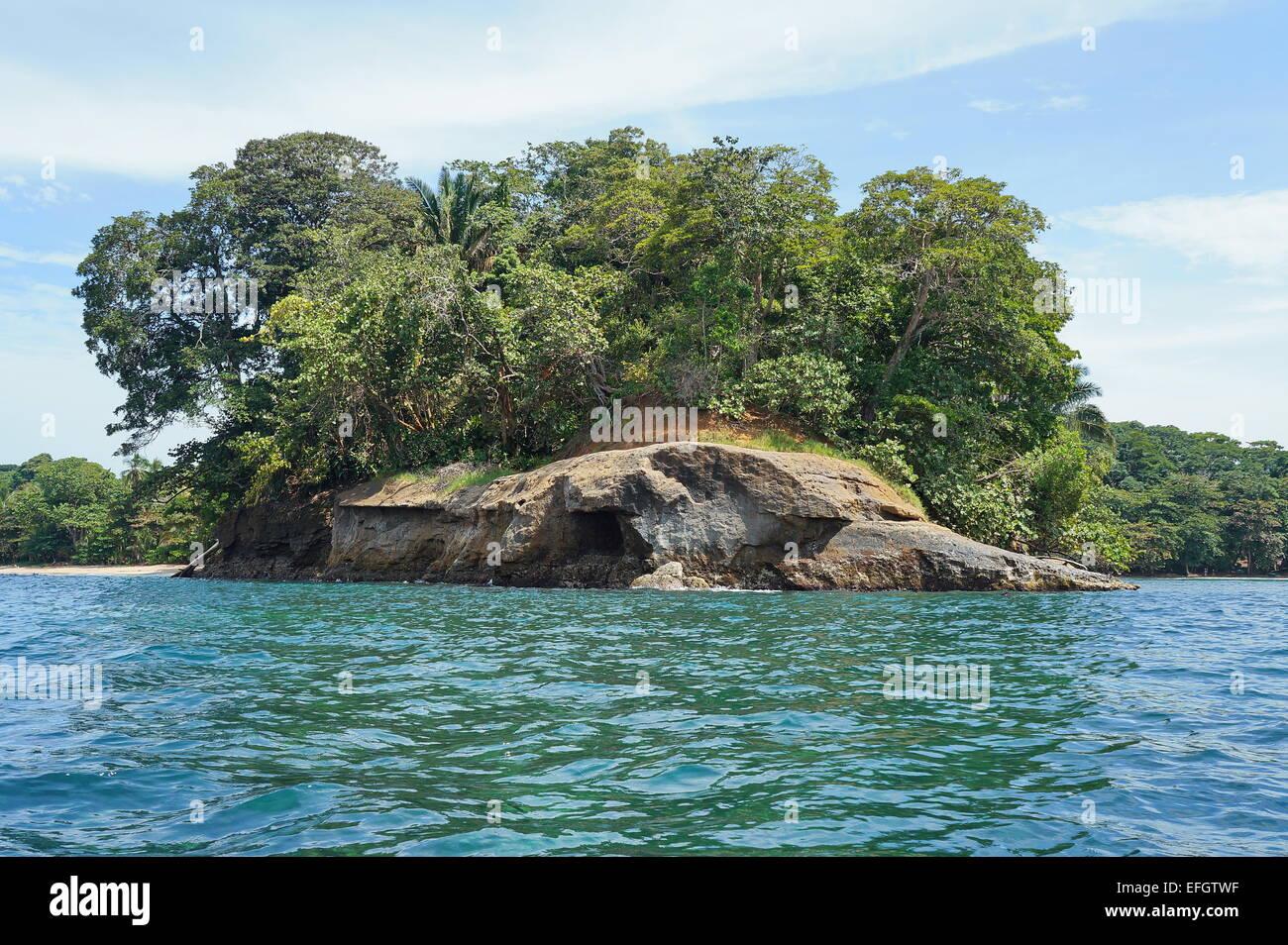 Punta Uva on the Caribbean shore of Costa Rica, Puerto Viejo de Talamanca, Central America - Stock Image
