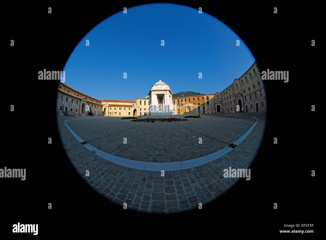 Marche , Ancona , Mole Vanvitelliana , temple of St. Rocco . - Stock Image