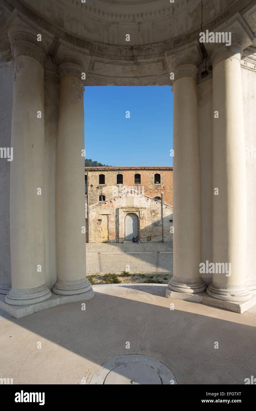 Ancona , The Mole Vanvitelliana , built by Vanvitelli in 1743 , the temple of St. Rocco - Stock Image