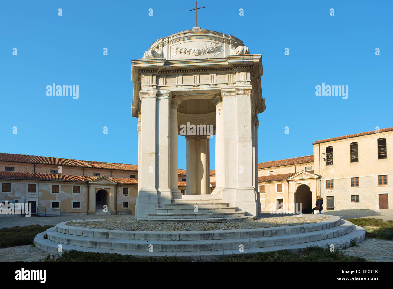 Marche , Ancona , Mole Vanvitelliana , temple of St. Rocco . Stock Photo