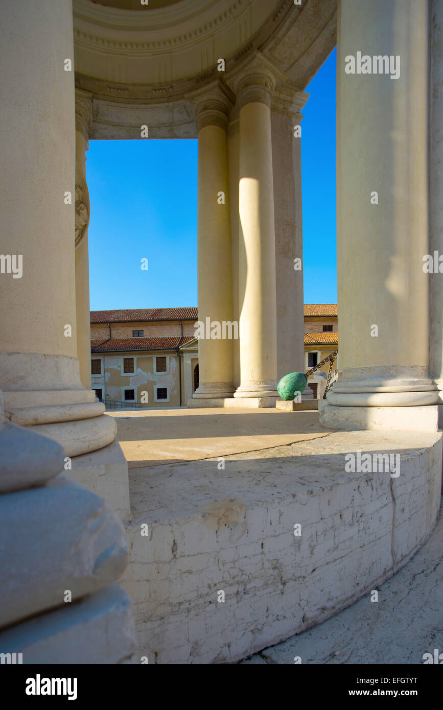 Marche , Ancona , Mole Vanvitelliana , temple of St. Rocco . Stock Photo