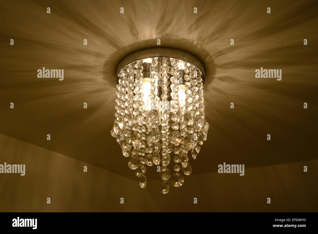 chandelier light fitting abstract pattern - Stock Image