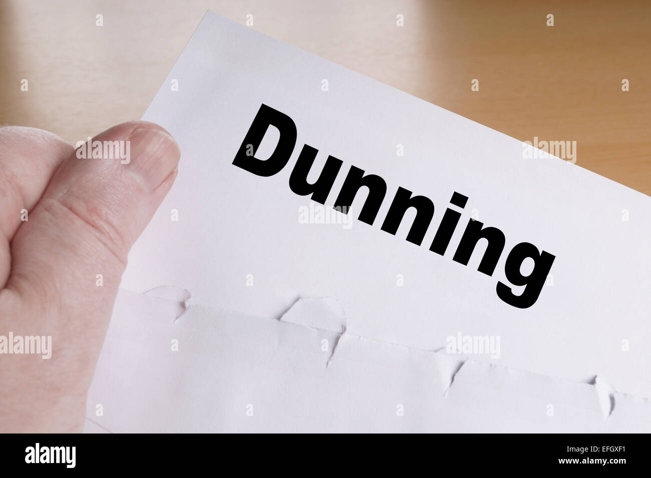 dunning letter - Stock Image