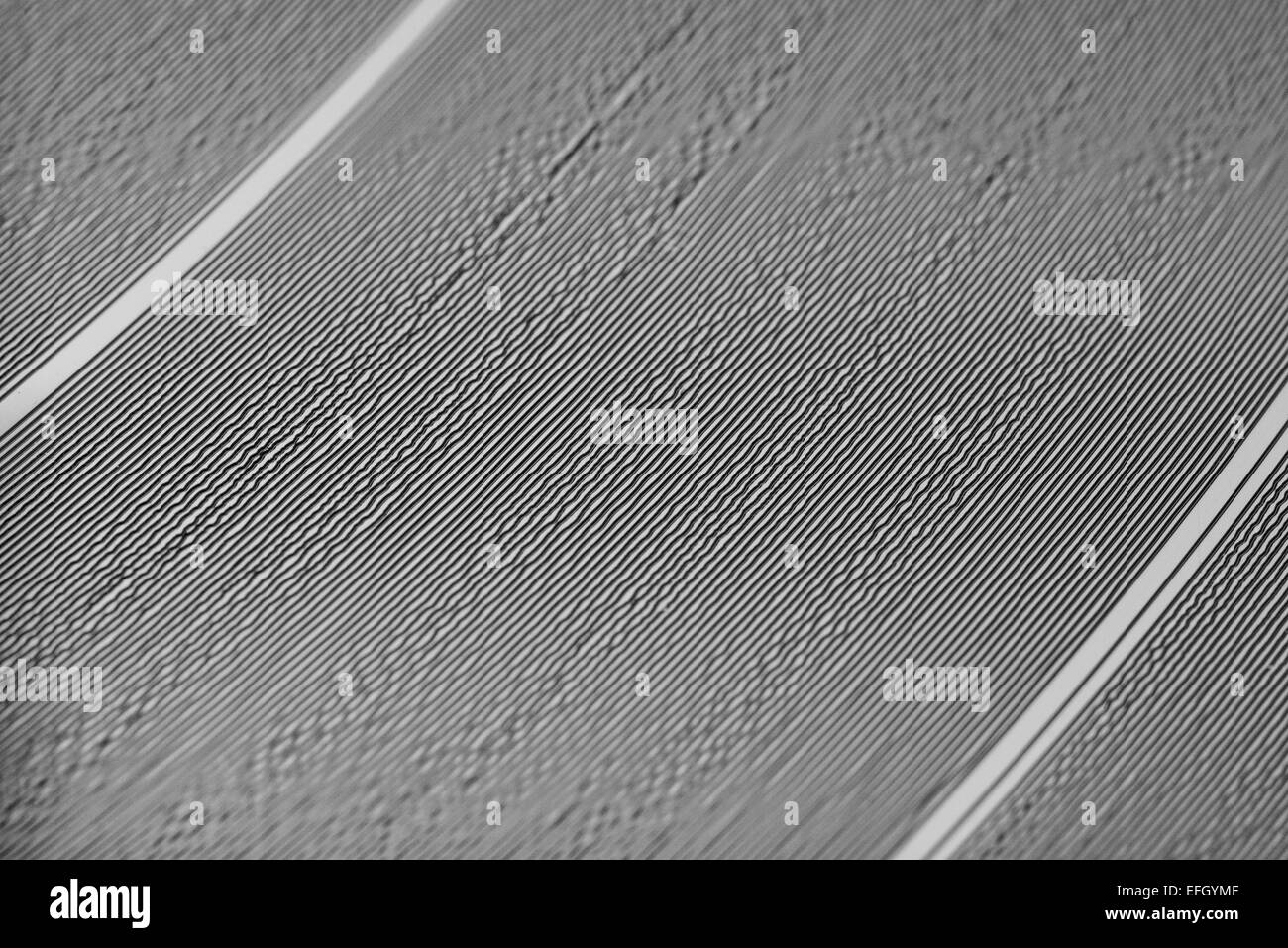 A close up of a vinyl record - Stock Image
