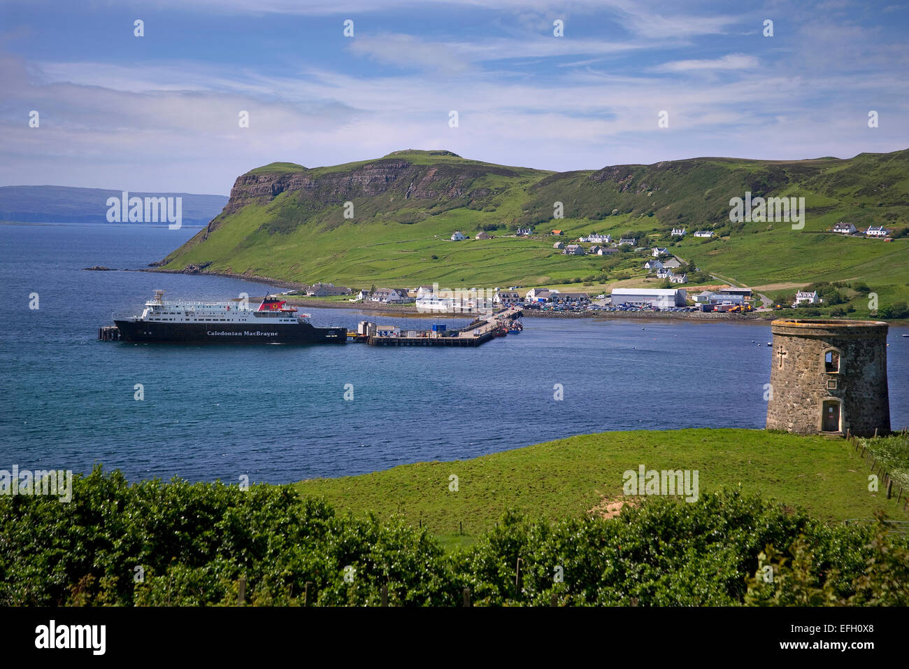CalMac vessel MV Hebrides at Uig, Isle of Skye - Stock Image