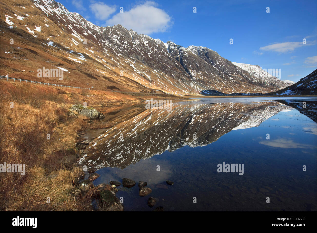reflections in the pass of Glencoe - Stock Image