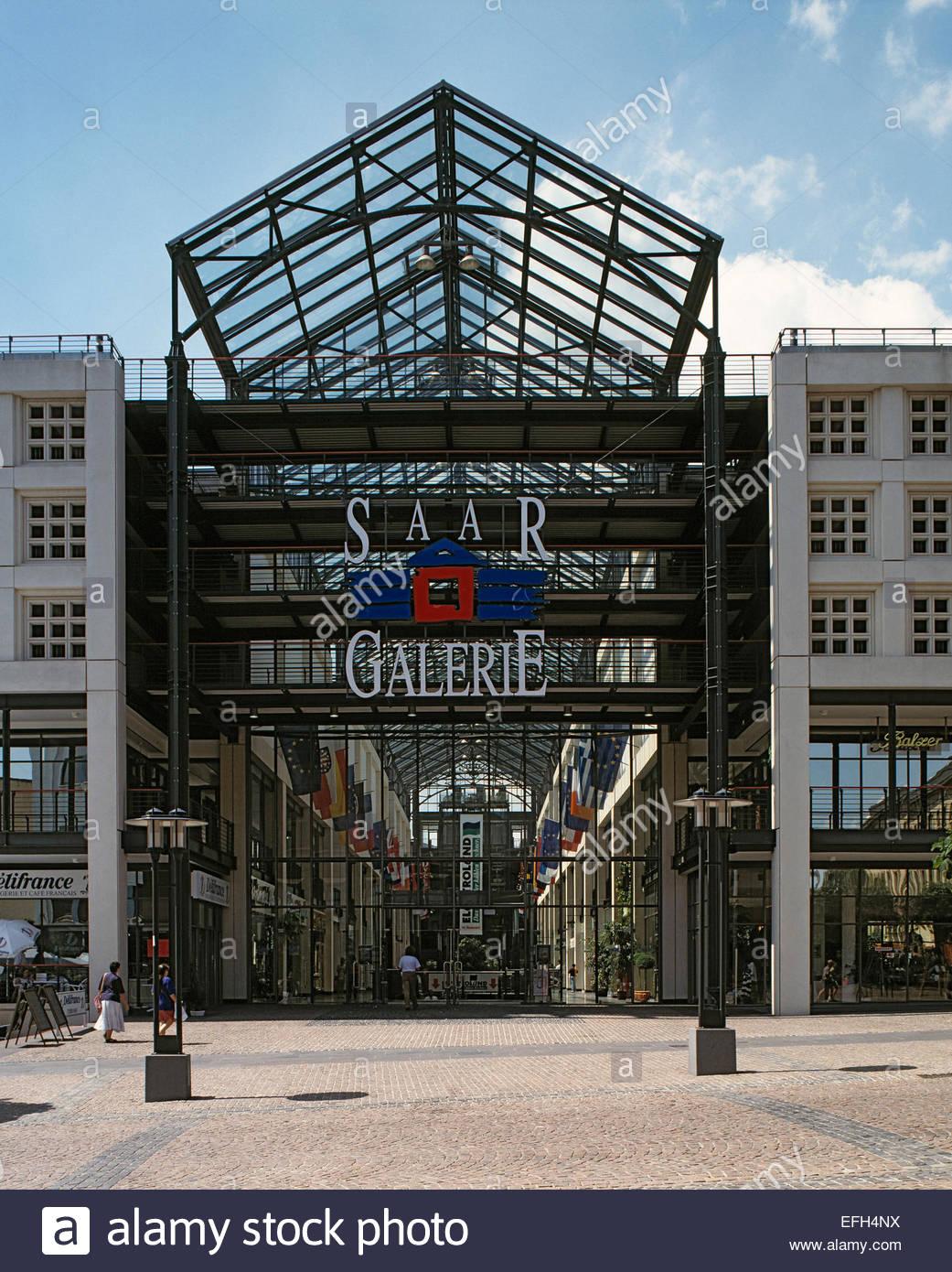 D-Saarbruecken, Saar, Saarland, SaarGalerie, heute Europa-Galerie Saarbruecken, Einkaufszentrum, D-Saarbruecken, Stock Photo