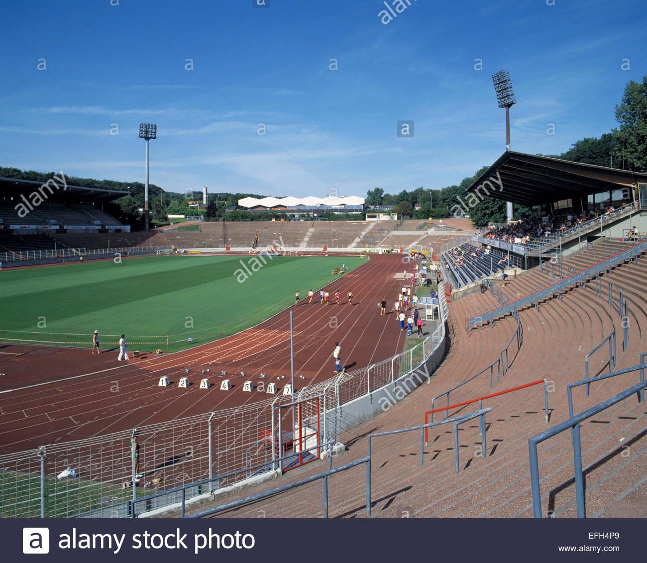 D-Saarbruecken, Saar, Saarland, Ludwigsparkstadion, Fussballstadion, Heimspielstaette des 1. FC Saarbruecken, Sportveranstaltung - Stock Image
