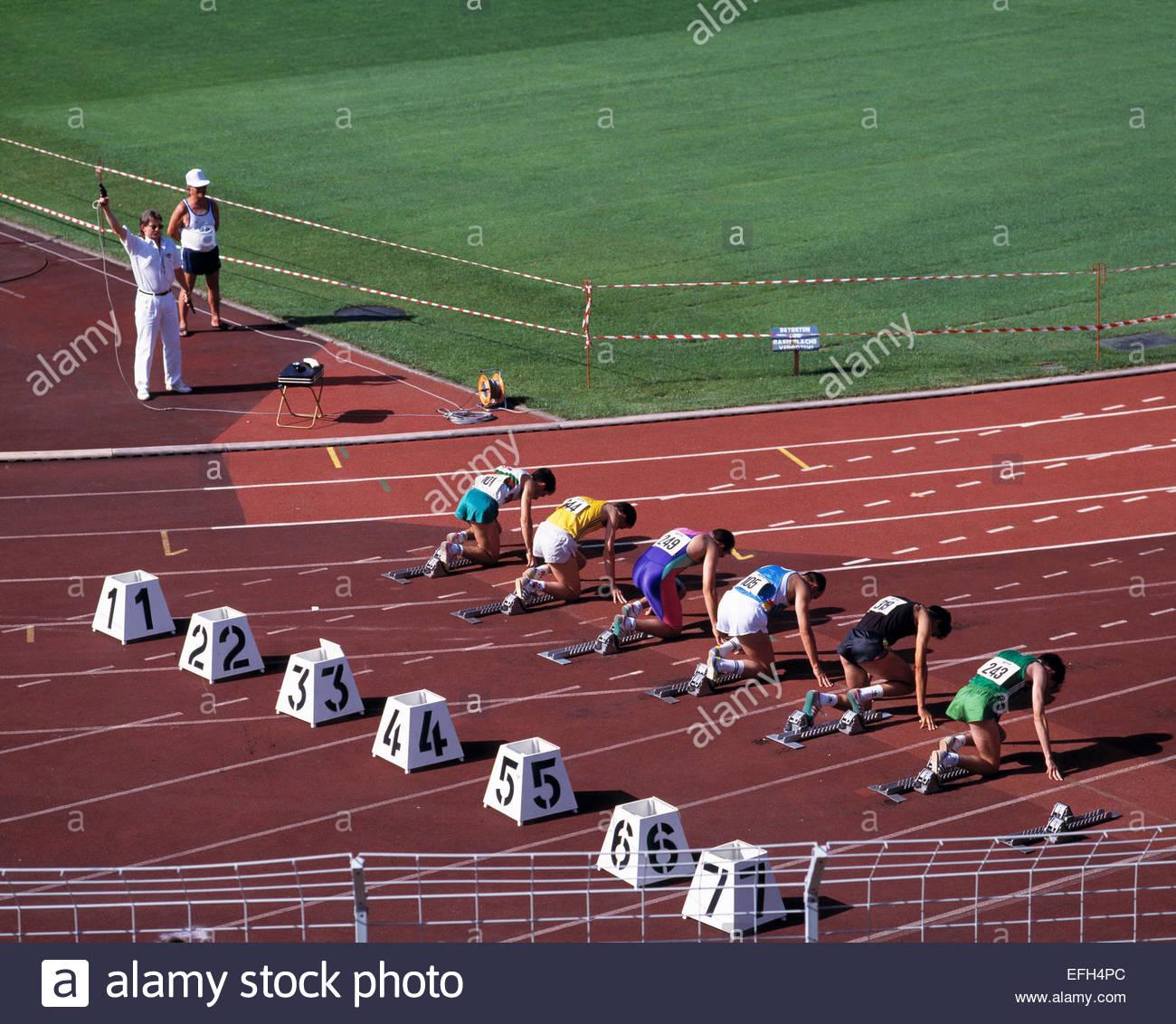 D-Saarbruecken, Saar, Saarland, Ludwigsparkstadion, Sportveranstaltung, Leichtathletik, Laufwettbewerb, Laeufer, - Stock Image