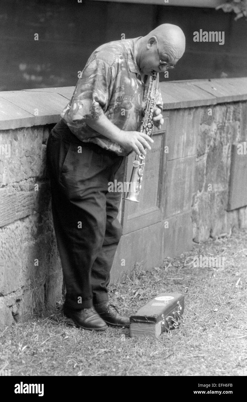 Lol Coxhill, (George Lowen Coxhill) was an English free improvising saxophonist and raconteur. He played the soprano - Stock Image