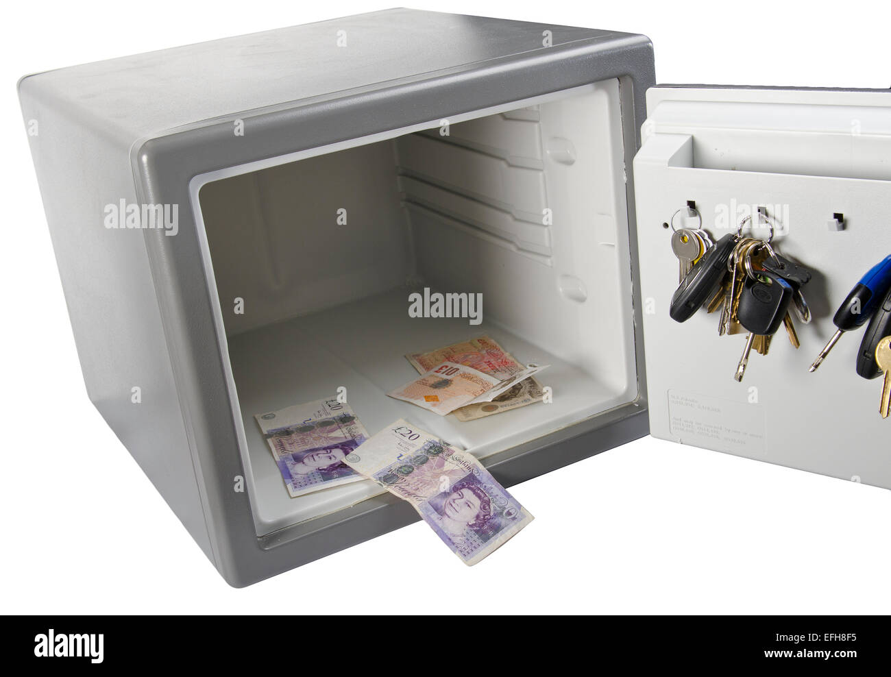 cut out image of combination domestic safe Stock Photo