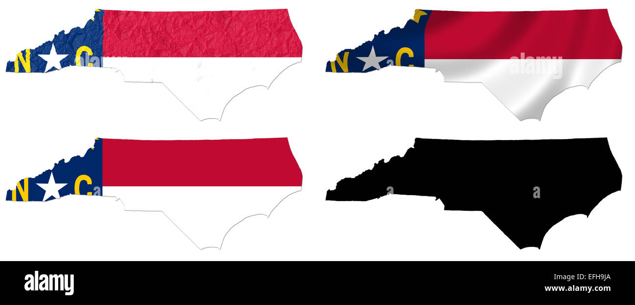 Us Map Photo Collage.Us North Carolina State Flag Over Map Collage Stock Photo 78442066