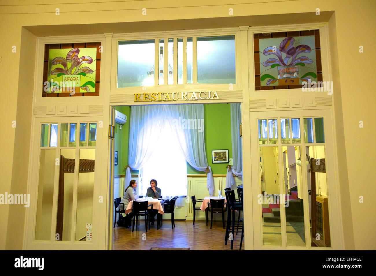 Interior of Klub Garnizonowy, Krakow, Poland, Europe - Stock Image