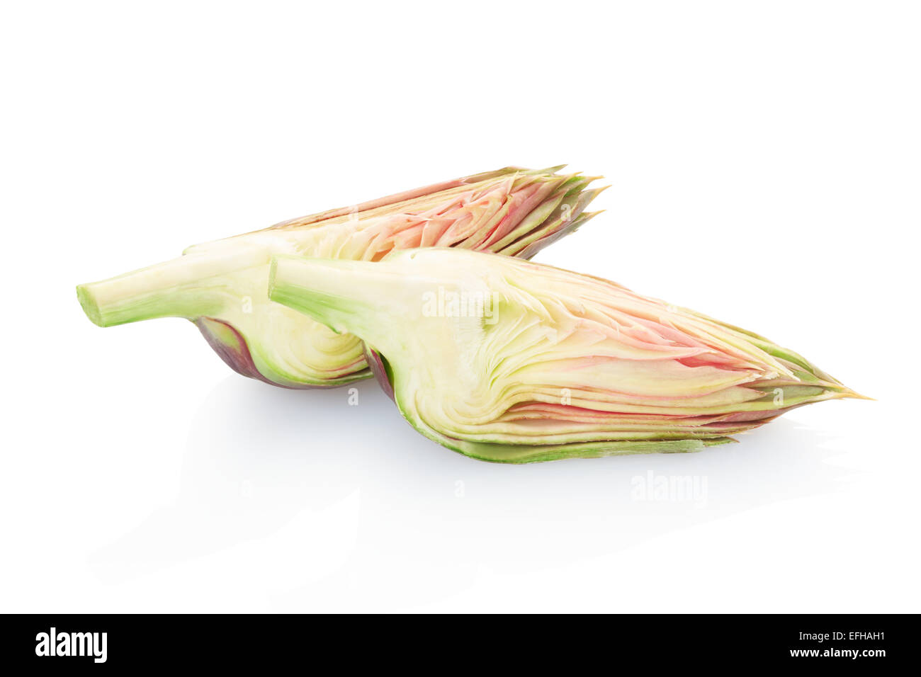 Artichoke pieces - Stock Image