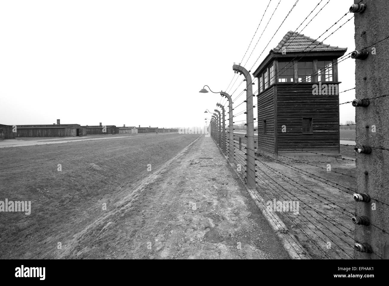 Auschwitz ll Birkenau Concentration Camp, Brzezinka, Poland, Europe - Stock Image
