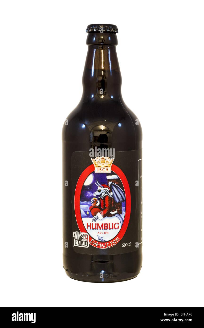 Isca Ales Ltd, Dawlish Brewery - Humbug bottled beer - current @ 2015. - Stock Image