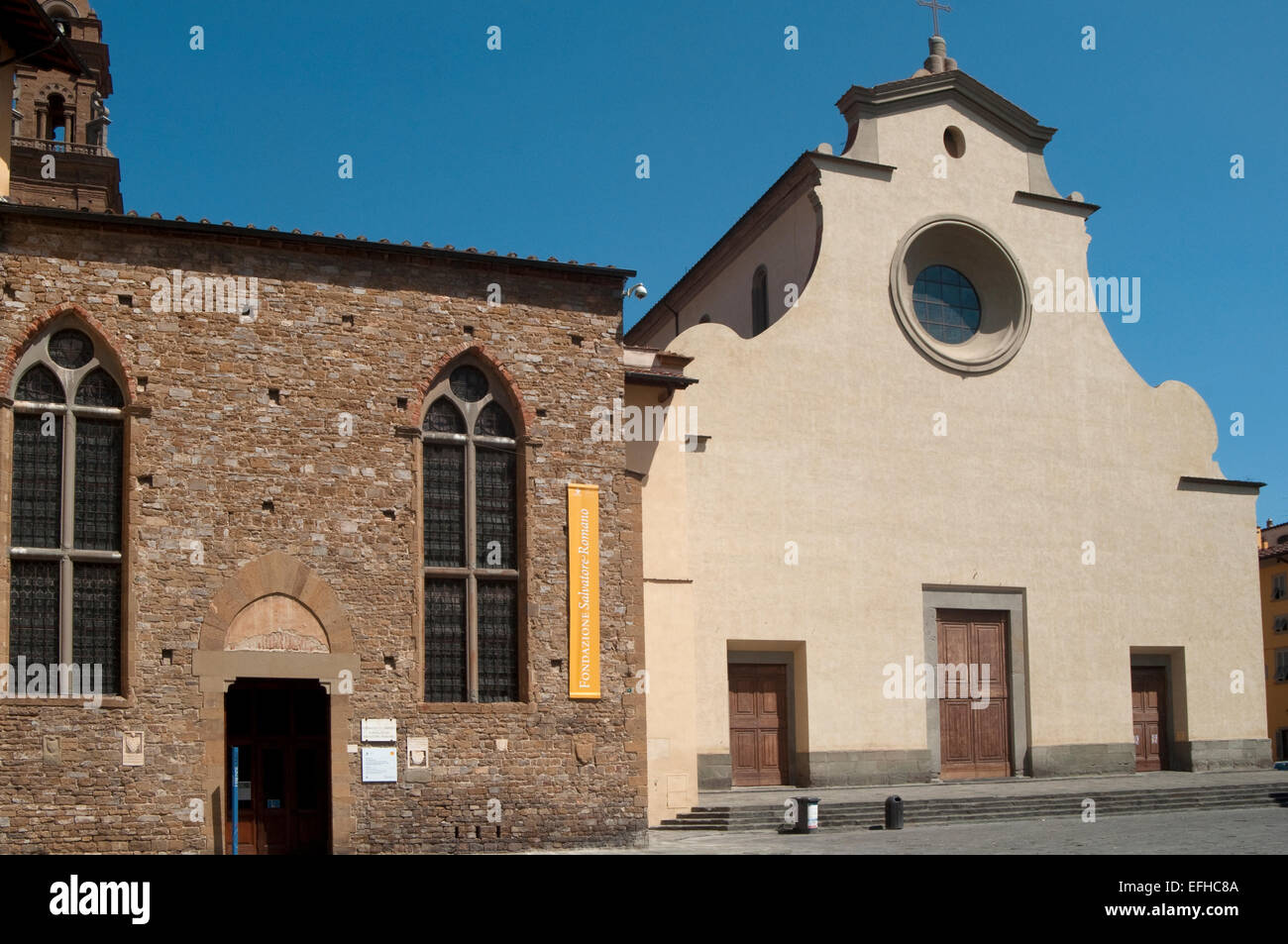 Italy, Tuscany, Florence, Church of Santo Spirito by Brunelleschi Filippo Stock Photo