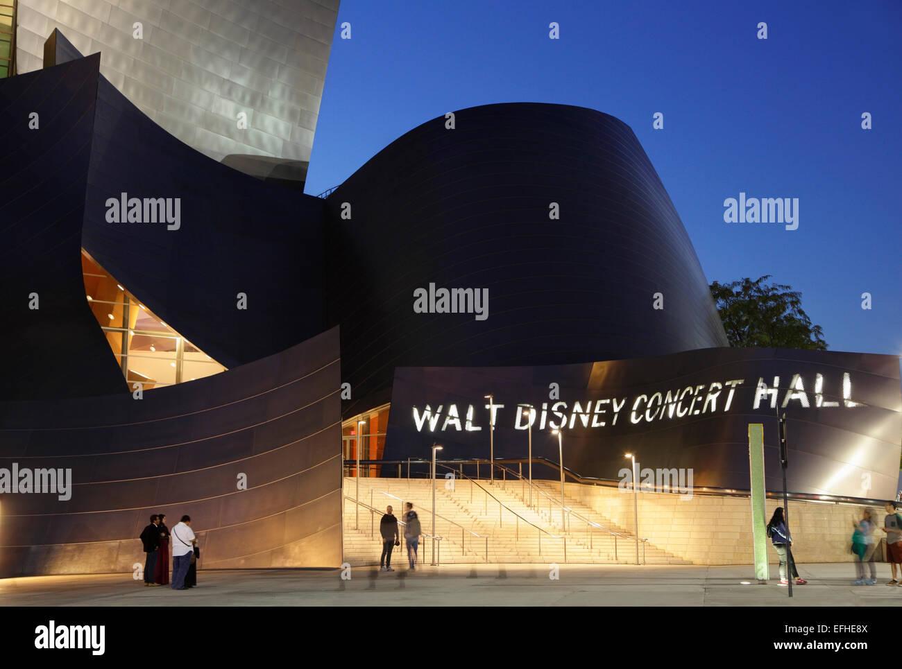 Walt Disney Concert Hall, Los Angeles, California, USA Stock Photo