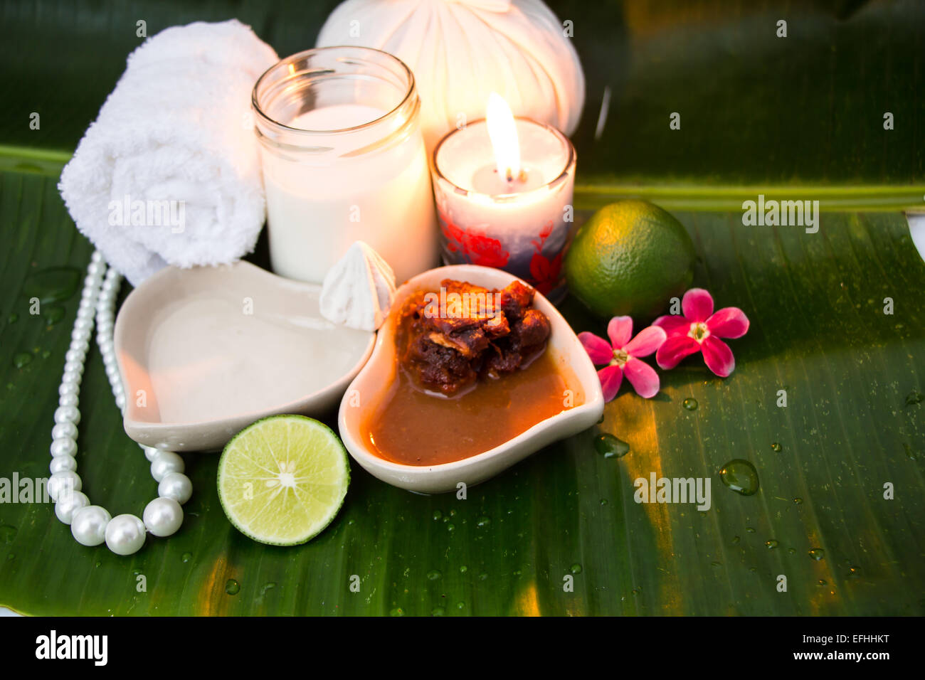 Thai herb for spa - Stock Image