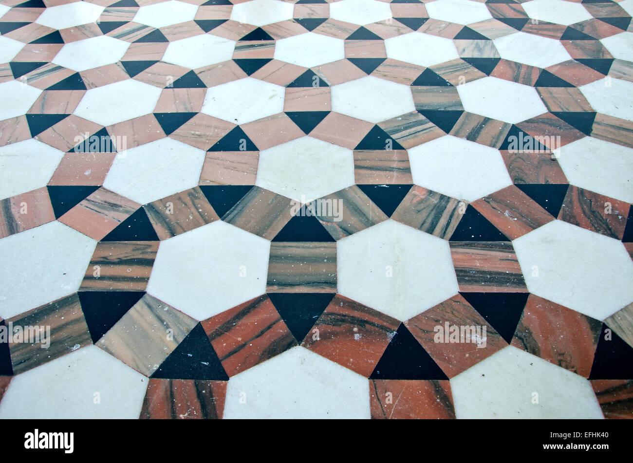 beautiful ornamental decorative marble floor background in ...