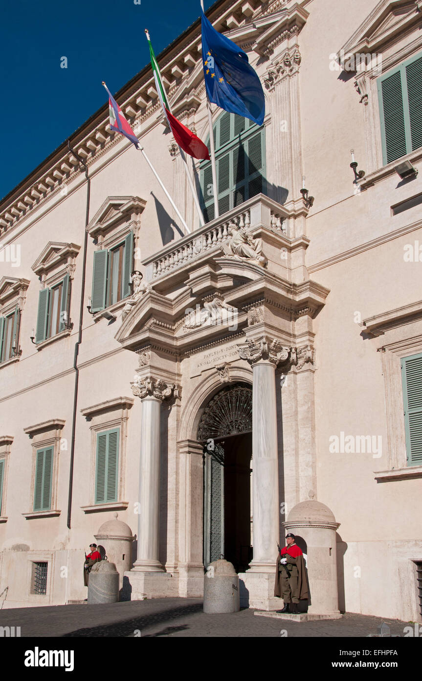 Quirinale palace, palazzo del quirinale, residence of the president of the Italian republic Rome Italy Italian - Stock Image