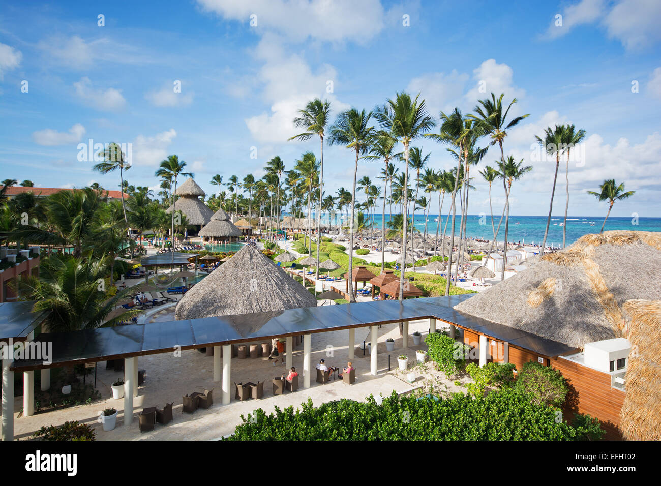 DOMINICAN REPUBLIC. The Secrets Royal Beach and Now Larimar resorts at Punta Cana. 2015. - Stock Image