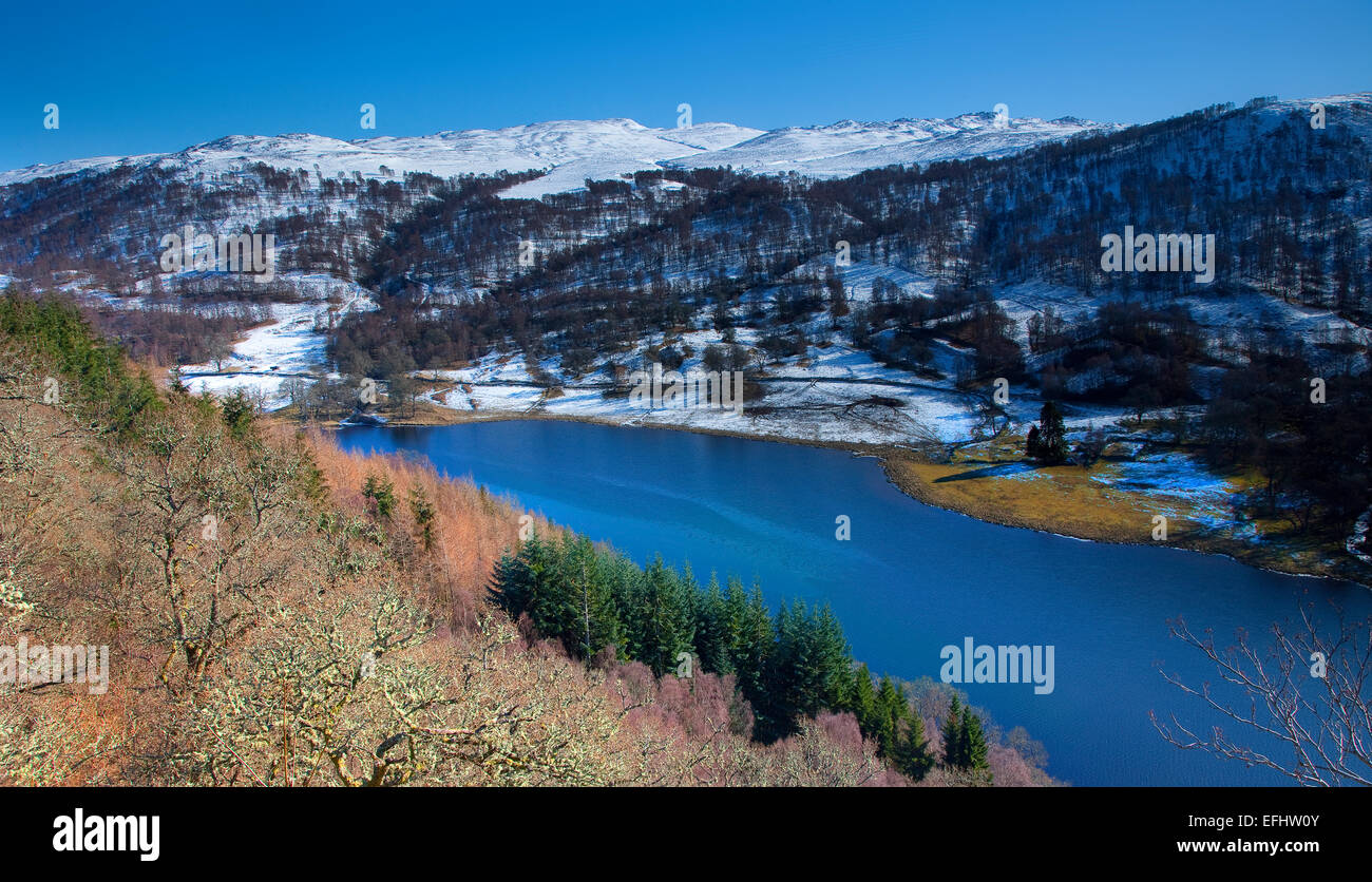 Winter view of Loch Tummel, Perthshire - Stock Image