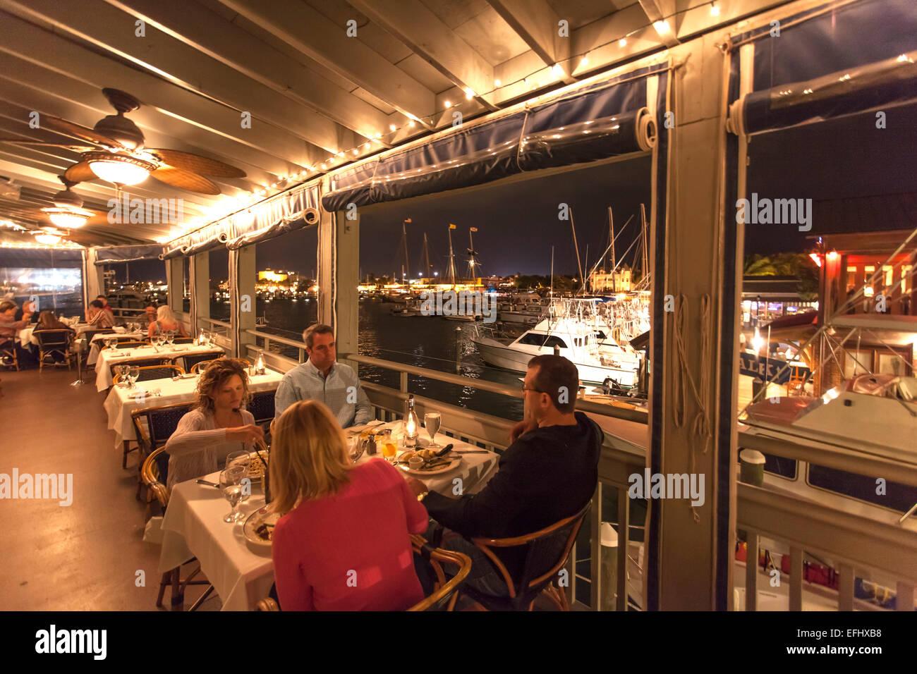 Restaurant A and B Lobster House, Key West, Florida Keys, Florida, USA - Stock Image