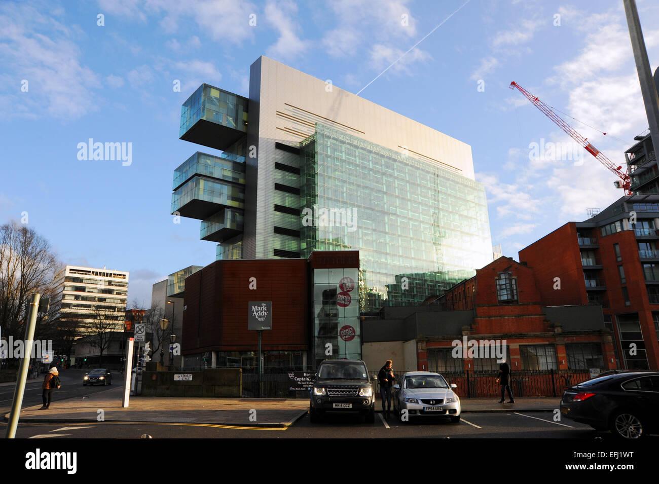 Manchester Lancashire UK - Manchester Civil Justice Centre January 2015 - Stock Image