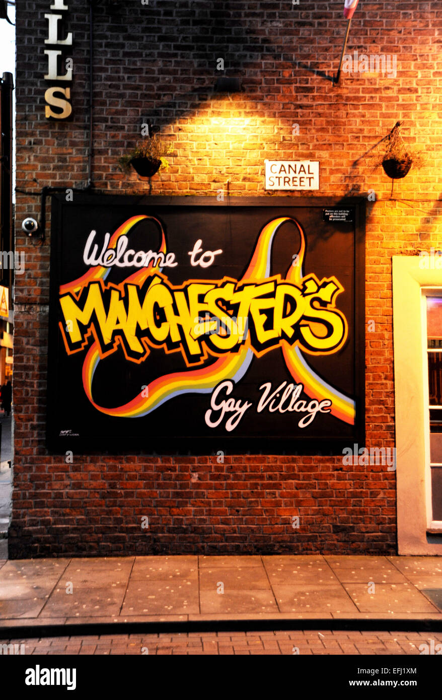 Manchester Lancashire UK - The Canal Street district of Manchester which is at the heart of the Gay Community Village - Stock Image