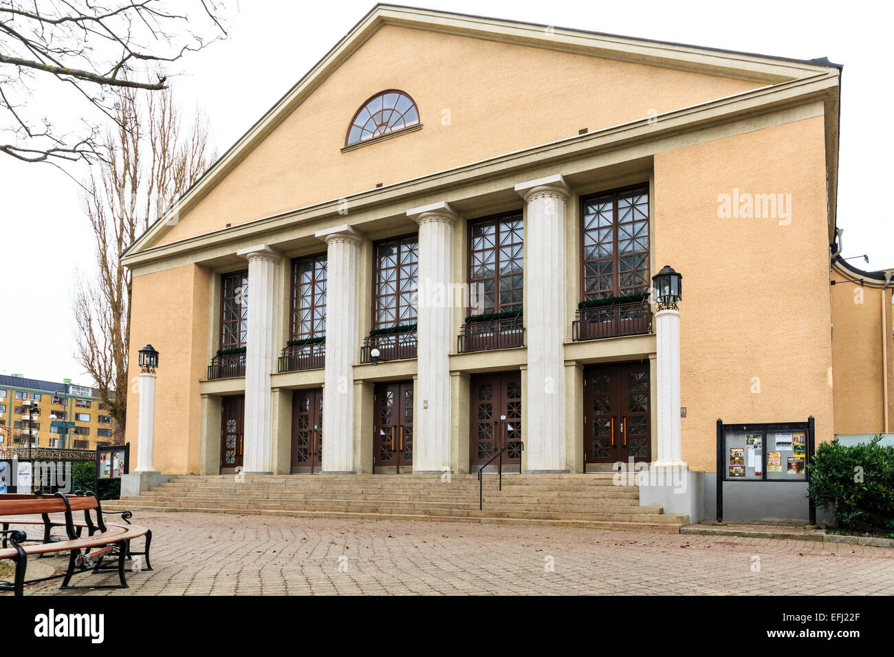 Exterior view and entrance to Lorensbergsteatern an old renowned swedish theater building in Gothenburg, Sweden - Stock Image