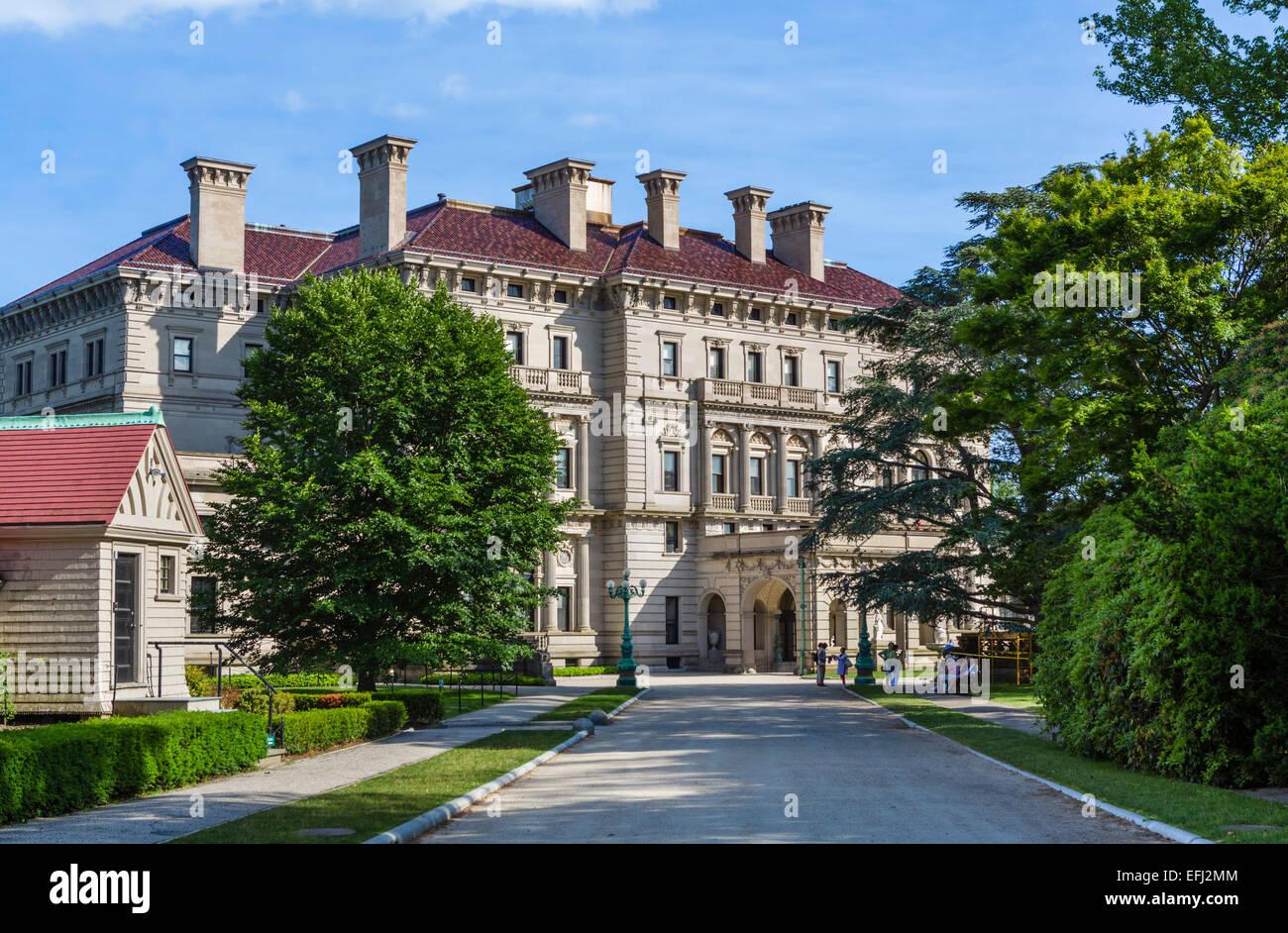The Breakers, historic mansion and summer home of Cornelius Vanderbilt II, Newport, Rhode Island, USA - Stock Image