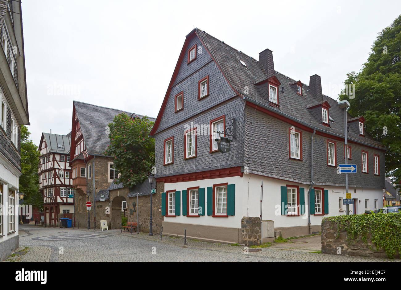 Former academy Hohe Schule Herborn, 1590-92, Herborn, Westerwald, Hesse, Germany, Europe - Stock Image