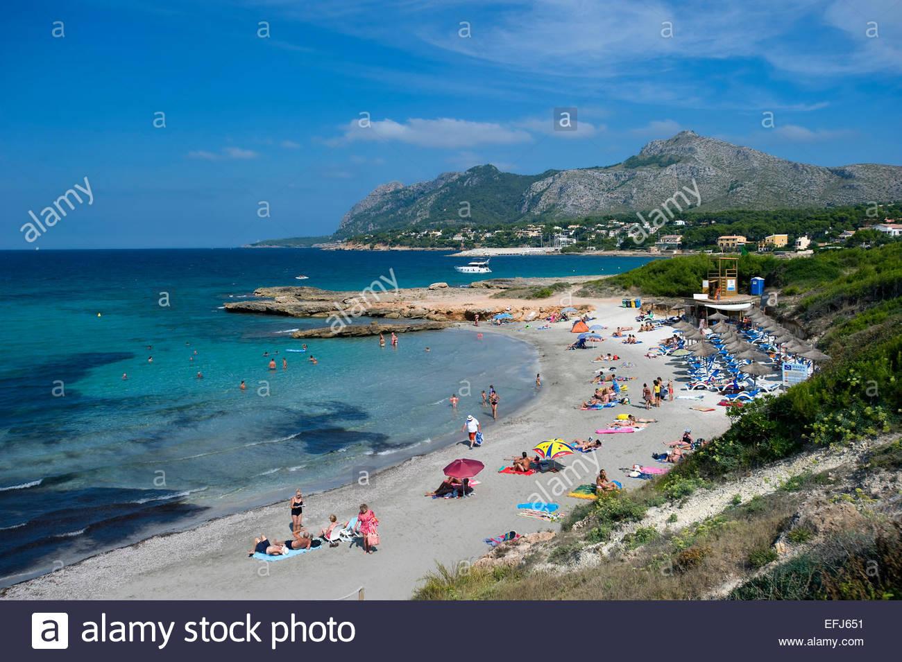 Playa Sant Joan, Bonaire, Mallorca, Balearics, Spain - Stock Image
