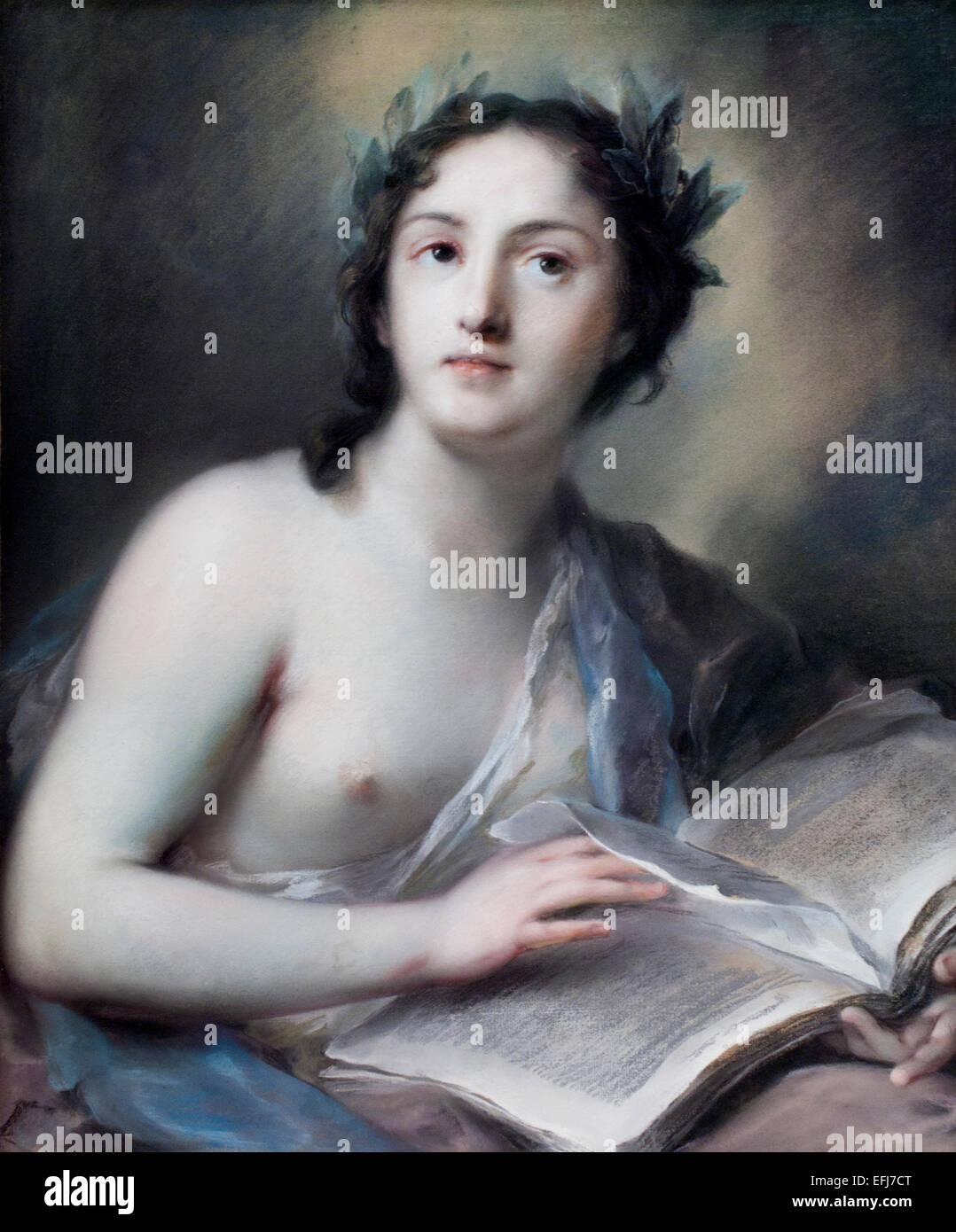 Poetry 1720 Rosalba Zuanna Carriera 1673 –  1757 Venetian Rococo painter Italy Italian - Stock Image