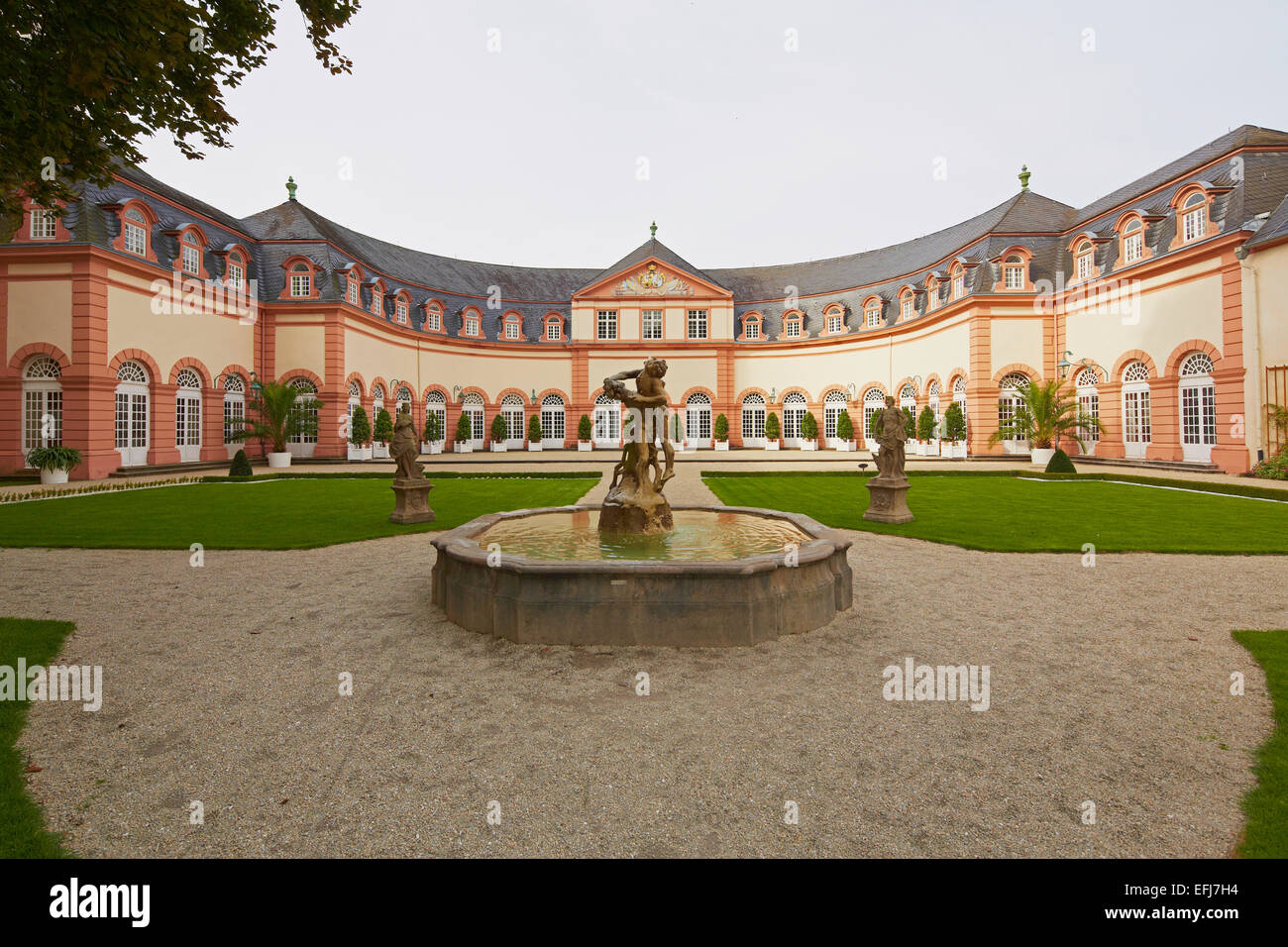 Upper Orangery (1703-05), plans by Julius Ludwig Rothweil, Weilburg castle, Former residence of the counts of Nassau, - Stock Image