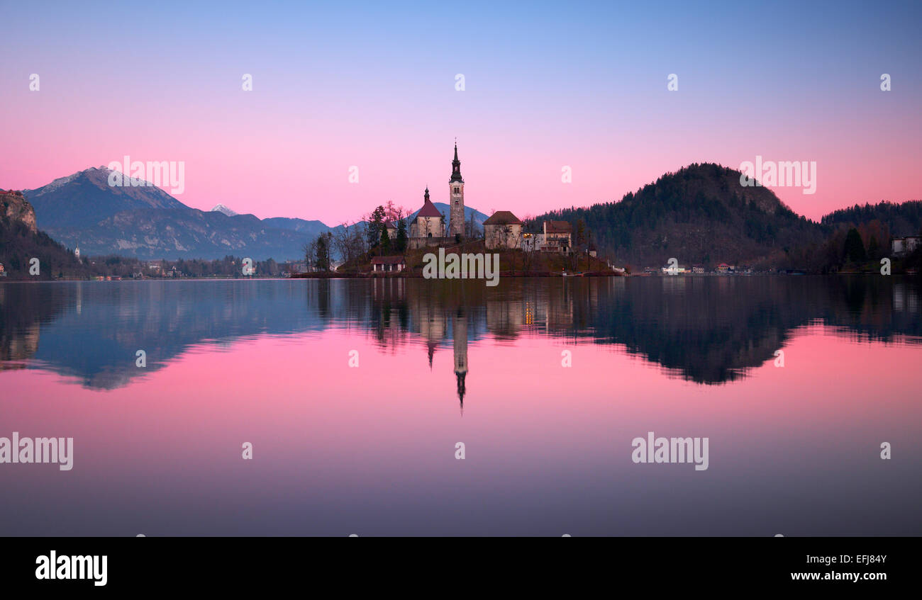 Bled lake. - Stock Image