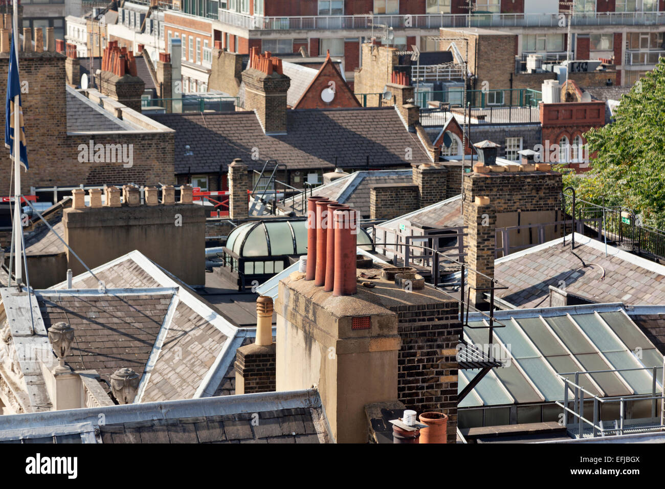 London Roofs - Stock Image