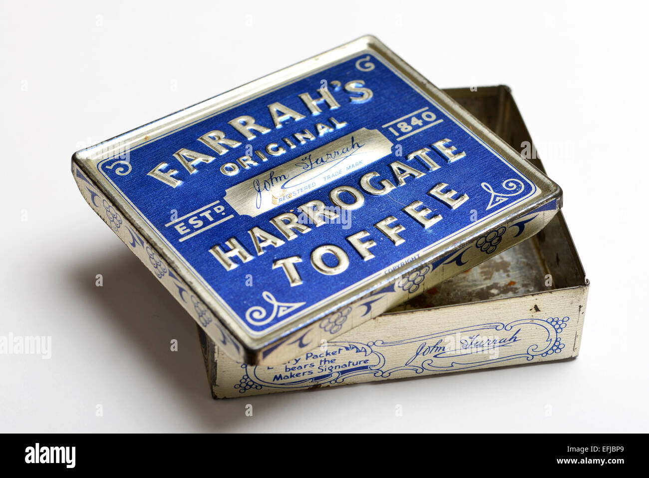 Collectable Farrah's Toffee Tin - Stock Image
