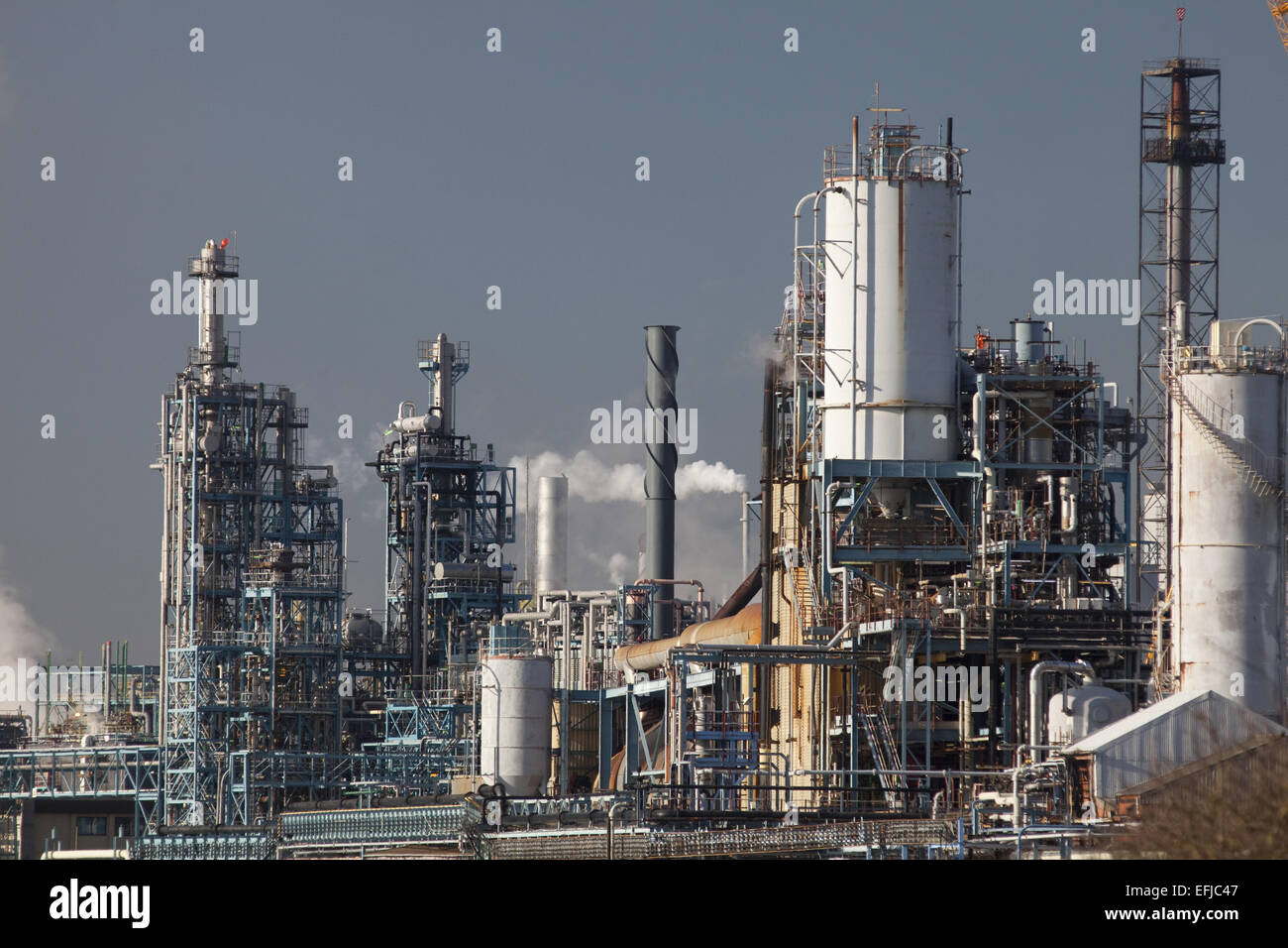 Chemical works at Runcorn - Stock Image