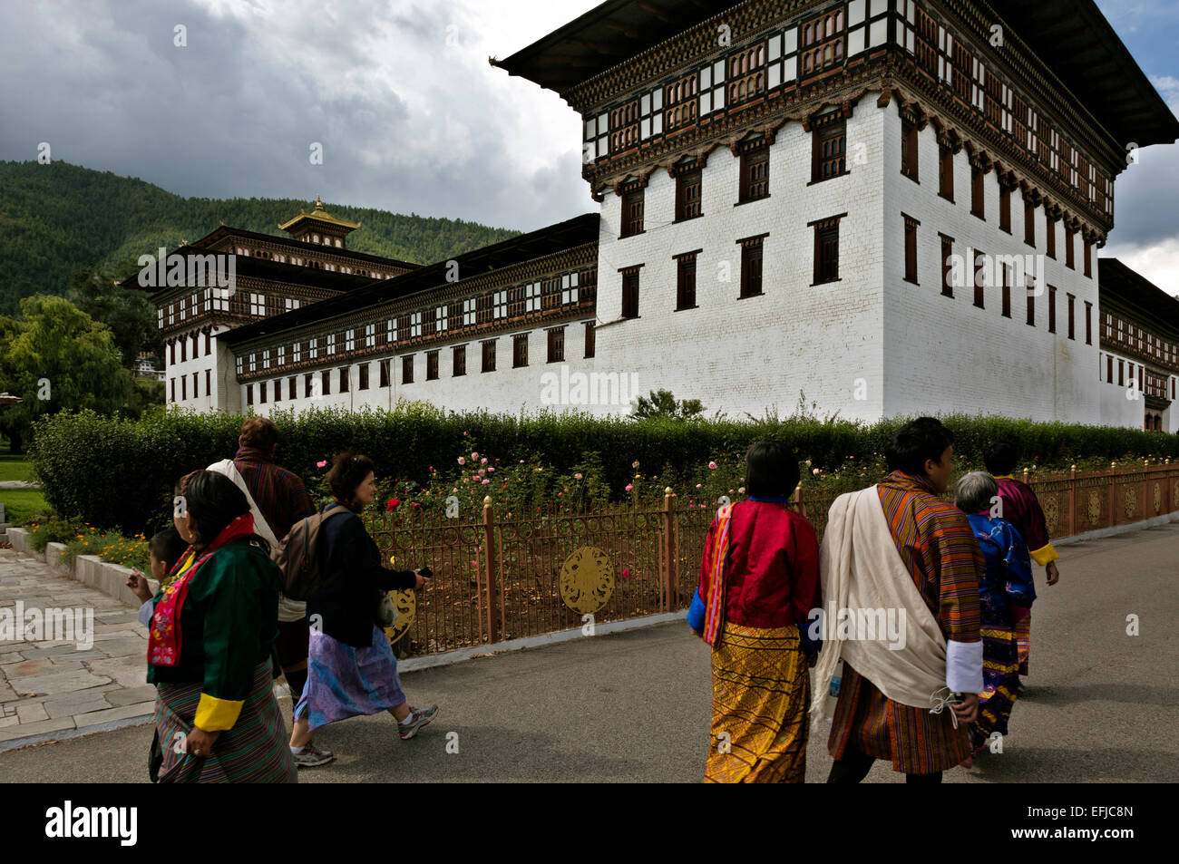 BHUTAN - Tashichoedzong in the capital city of Thimphu, the center of government for the country. - Stock Image